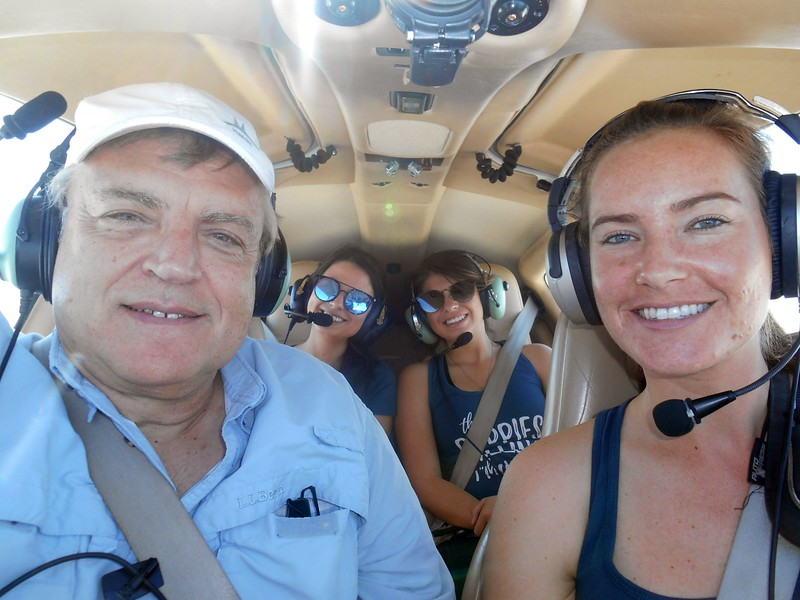 Mike, Isa, Amber and PIC Jessica. (Yes, she is in the  pilot seat flying the plane to Enterprise, AL...)