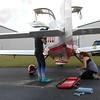 Excellent Flight crew clean up the plane.