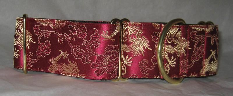 collar silk dragon burgundy