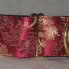 collar silk dragon burgundy