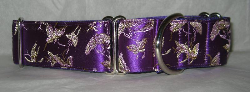"""Silk Mini Butterflies Purple, 1 1/2"""" wide"""