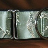 Silk Dragonflies sage martingale collar