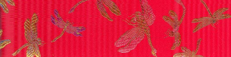 silk Dragonflies red rainbow