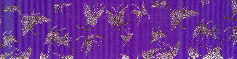 Silk Mini Butterflies Purple