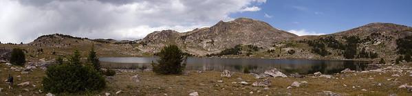 Upper Sheepherder Lake in Shoshone National Forest, Wyoming