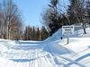 On the snowmobile trail, Feb 18