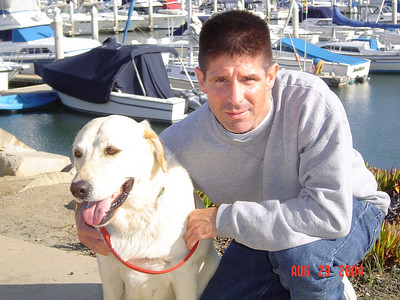 Chris and Toby at the Channel Islands Marina