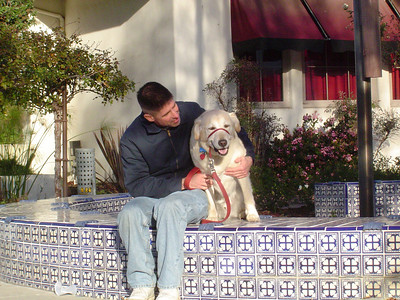 Chris and Toby at Figueroa Street, Ventura, CA.