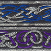 Celtic Beast~Blue and silver or Purple and silver