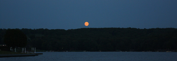 Rising Blue Moon over Indian Lake Friday Night!<br /> <br /> Photographer's Name: Bruce Myers<br /> Photographer's City and State: Indian Lake, PA