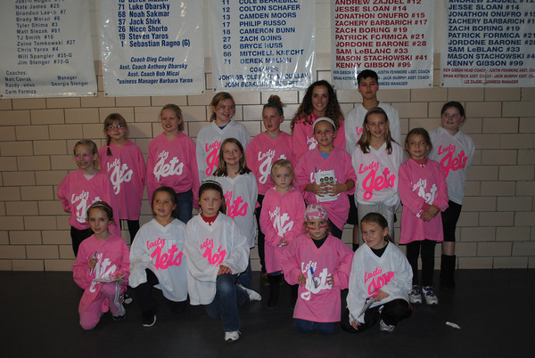 Johnstown Lady Jets at Pink in the Rink<br /> <br /> Photographer's Name: Misty  Plunkard<br /> Photographer's City and State: Windber, PA