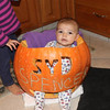 Spencer Stouffer in a pumpkin<br /> <br /> Photographer's Name: Carol  Stouffer<br /> Photographer's City and State: Johnstown, PA