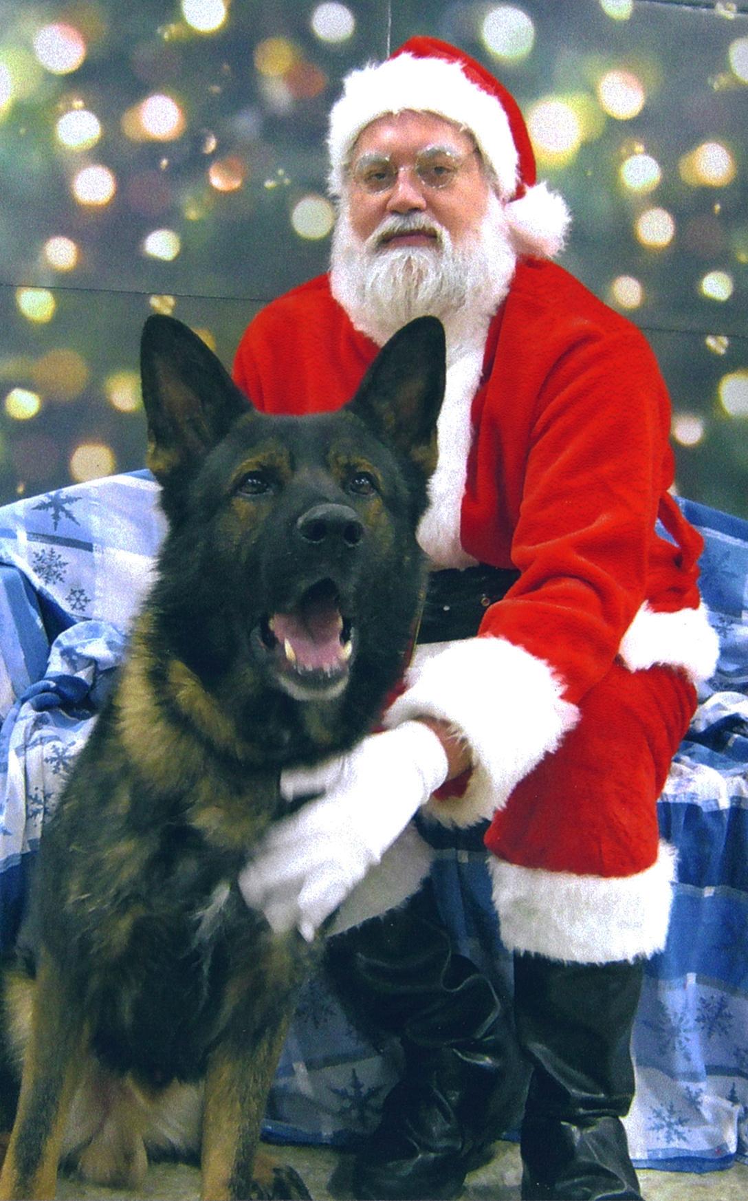 boy visits santa :)<br /> december 2010