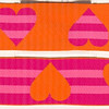 "Reversible Heart Stripe Orange, Fuchsia and Pink (this is a jacquard ribbon) available in 1 1/2"" and 1"" wide"