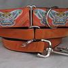 Orange Moth martingale collar with Orange Swiss velvet style #1 greyhound tag collar and 6' orange Swiss velvet leash