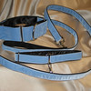 "Swiss Velvet Blue, 2"" wide martingale, greyhound tag collar and 6' leash shown."