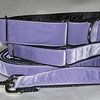 "Swiss Velvet Violet, 1 1/2"" wide martingale, greyhound tag collar and 6' leash shown"
