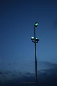 Streetlight with crescent moon, Orem UT