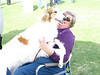 Dawn takes over Carole's lap
