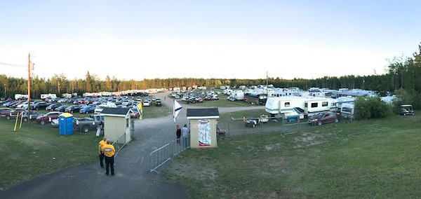 There were a lot of campers parked at the track for the big two-day racing show.