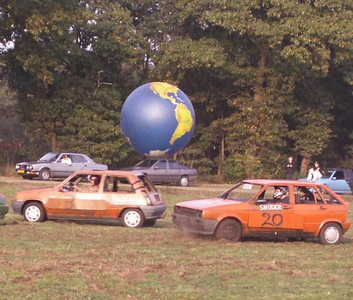 TV opname Autovoetbal oktober 2006