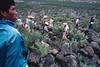 Groupe de pèlerins recherchant le peyotl. Indiens Huichols/Mexique