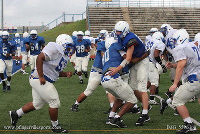 Pflugerville Panthers, Blue Gold scrimmage, August 19, 2007
