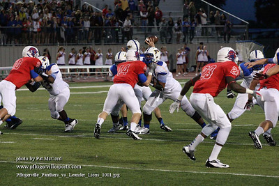 Pflugerville Panthers VS Leander Lions Sept 20, 2013