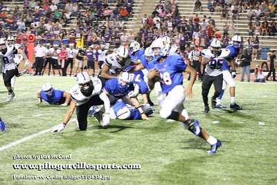 151009 Panthers vs Cedar Ridge