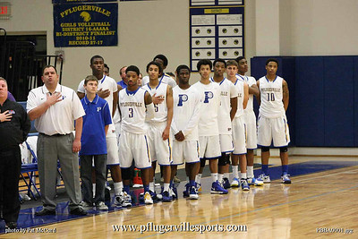 Pflugerville Panther Boys Basketball vs Judson Rockets, December 21, 2012