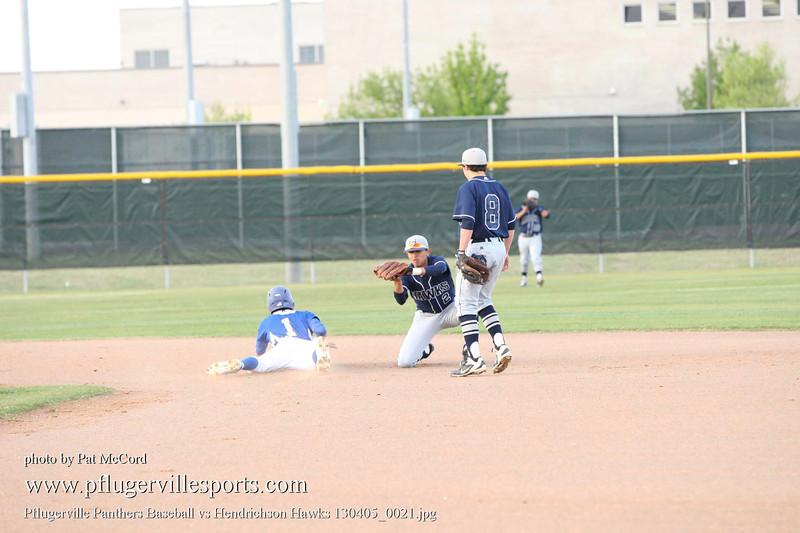 Pflugerville Panthers Baseball vs Hendrichson Hawks 130405_0021