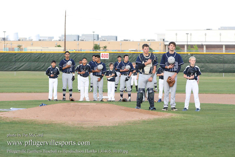 Pflugerville Panthers Baseball vs Hendrichson Hawks 130405_0010