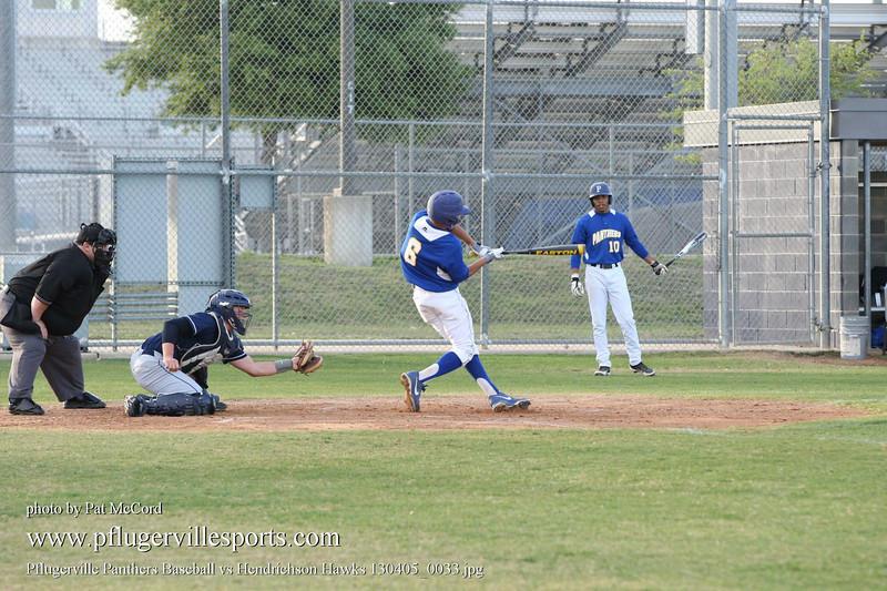 Pflugerville Panthers Baseball vs Hendrichson Hawks 130405_0033