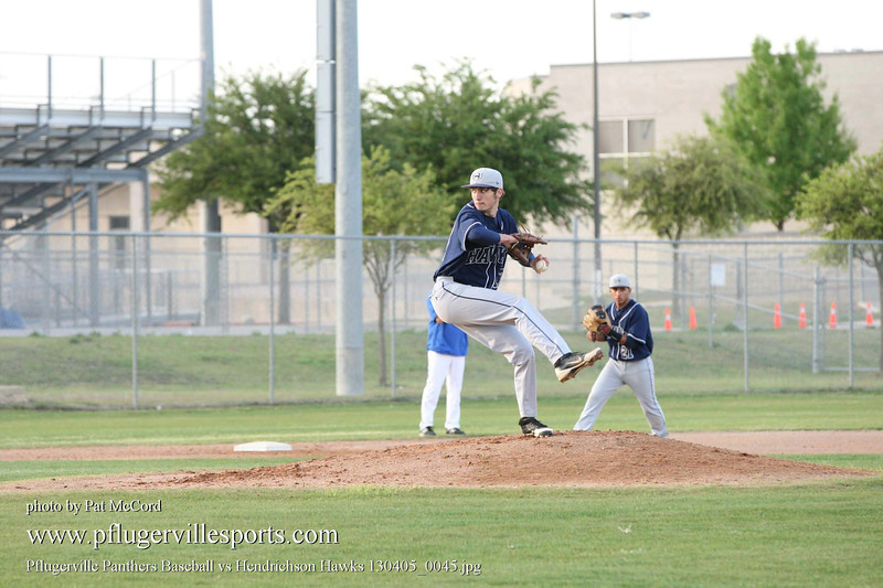 Pflugerville Panthers Baseball vs Hendrichson Hawks 130405_0045