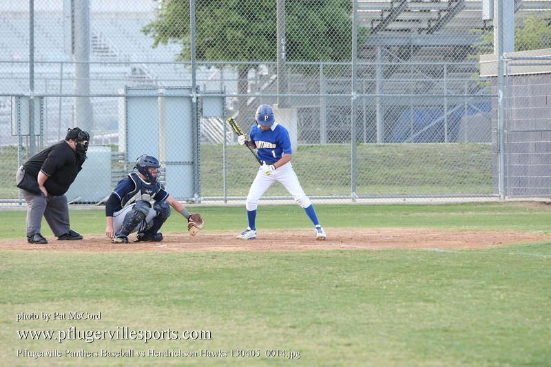 Pflugerville Panthers Baseball vs Hendrichson Hawks 130405_0014