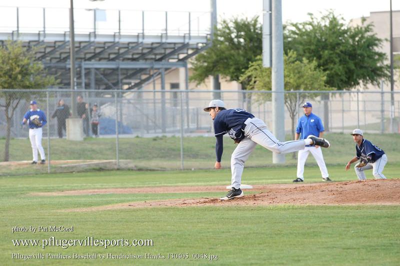 Pflugerville Panthers Baseball vs Hendrichson Hawks 130405_0048