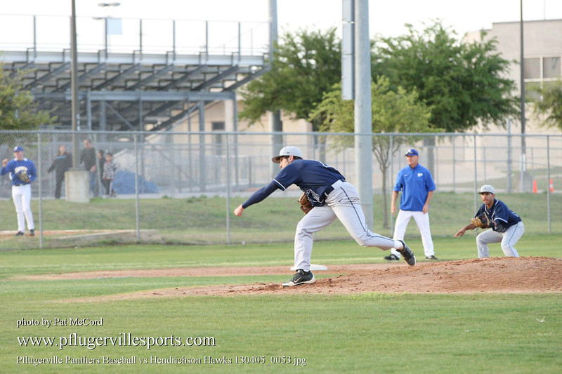 Pflugerville Panthers Baseball vs Hendrichson Hawks 130405_0053