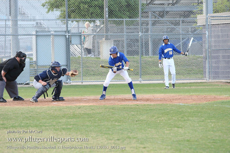 Pflugerville Panthers Baseball vs Hendrichson Hawks 130405_0018