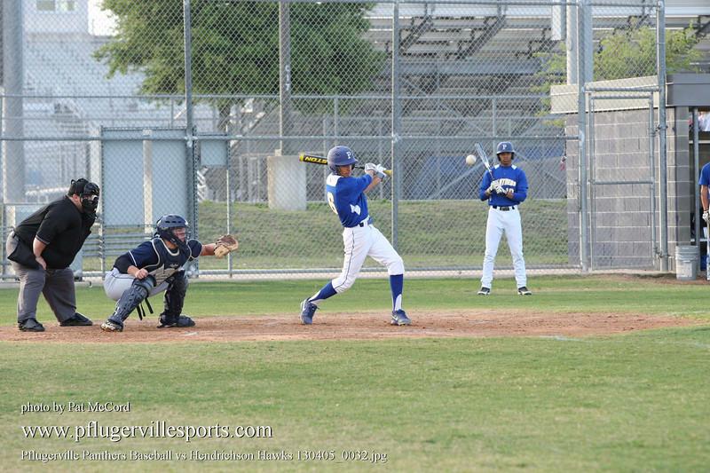 Pflugerville Panthers Baseball vs Hendrichson Hawks 130405_0032