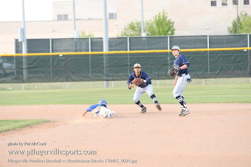 Pflugerville Panthers Baseball vs Hendrichson Hawks 130405_0024