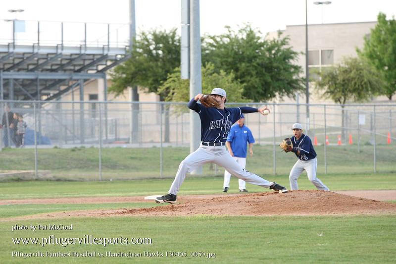 Pflugerville Panthers Baseball vs Hendrichson Hawks 130405_0050