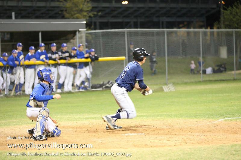 Pflugerville Panthers Baseball vs Hendrichson Hawks 130405_0433