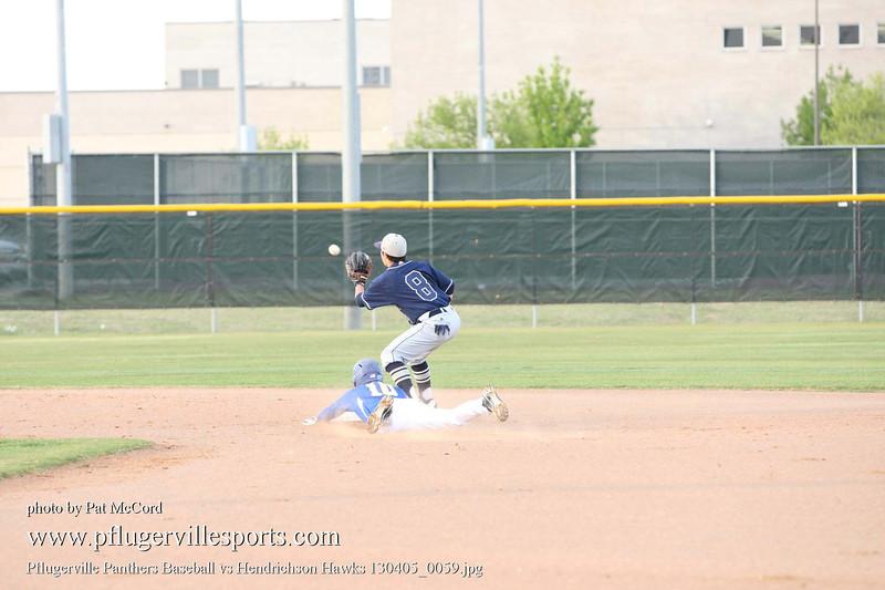 Pflugerville Panthers Baseball vs Hendrichson Hawks 130405_0059