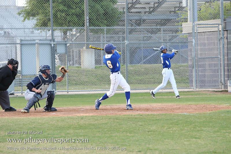 Pflugerville Panthers Baseball vs Hendrichson Hawks 130405_0026