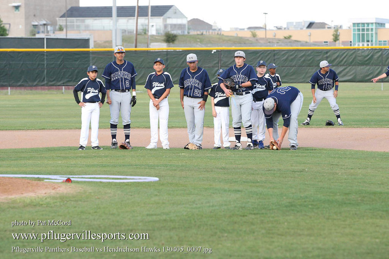 Pflugerville Panthers Baseball vs Hendrichson Hawks 130405_0007