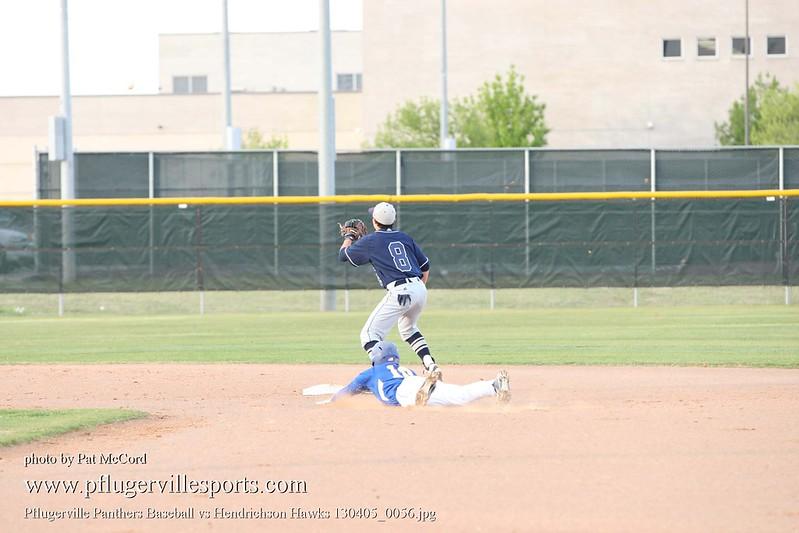Pflugerville Panthers Baseball vs Hendrichson Hawks 130405_0056