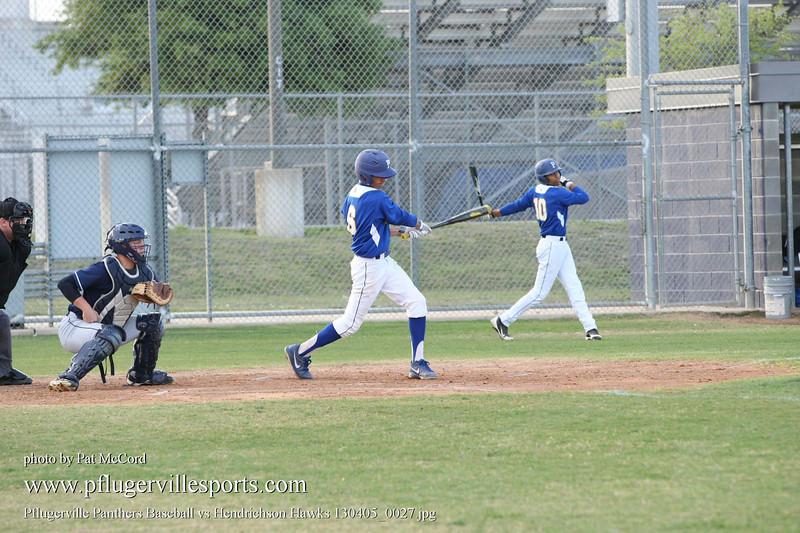 Pflugerville Panthers Baseball vs Hendrichson Hawks 130405_0027