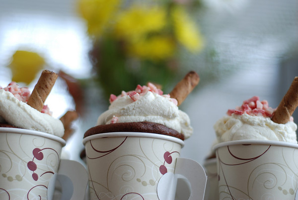 Peppermint Hot Chocolate Cupcakes 040