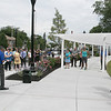 Phase one of the Mechanic Street Park is done and a ceremony to official open the park was held on Wednesday morning, July 17, 2019. Mayor Dean Mazzarella addresses the crowd at the ceremony. SENTINEL & ENTERPRISE/JOHN LOVE