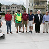 Phase one of the Mechanic Street Park is done and a ceremony to official open the park was held on Wednesday morning, July 17, 2019. Veterans that attended the ceremony posed for a picture near the flag pole, the center piece of the new park. SENTINEL & ENTERPRISE/JOHN LOVE